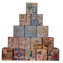 Krabičky - ZÁSOBNÍK NA VRECKOVKY kocka - 8716971_