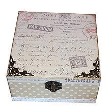 Krabičky - KRABICA NA ČAJ 4 priečinky - 8719435_