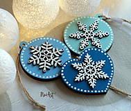 Vianočné ozdoby masív sada modrá