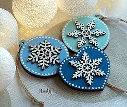 Dekorácie - Vianočné ozdoby masív sada modrá - 8718985_