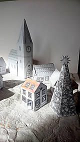 Hračky - Vianočné mestečko - adventný kalendár - 8718662_
