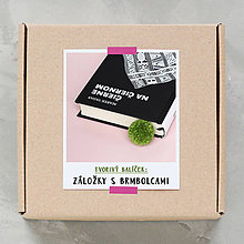 Návody a literatúra - Záložky s brmbolcami - tvorivý balíček s návodom (NOVÉ) - 8718730_