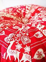 Úžitkový textil - Pampúšik - zimný červený - 8714772_