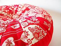 Úžitkový textil - Pampúšik - zimný červený - 8714773_