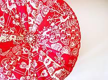 Úžitkový textil - Pampúšik - zimný červený - 8714774_