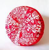 Úžitkový textil - Pampúšik - zimný červený - 8714775_