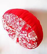 Úžitkový textil - Pampúšik - zimný červený - 8714776_