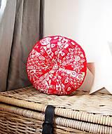 Úžitkový textil - Pampúšik - zimný červený - 8714778_