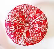 Úžitkový textil - Pampúšik - zimný červený - 8714779_