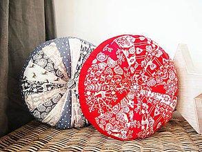 Úžitkový textil - Pampúšik - zimný červený - 8714782_