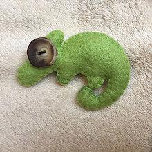 Odznaky/Brošne - Chameleon spokojný... - 8718601_