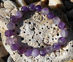 Náramky - violet ametyst story-náramok - 8715615_