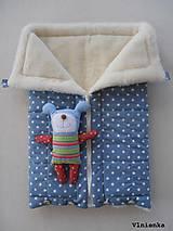 Textil - Deka a fusak DANIEL 2 v 1 100% merino Top Super wash Hviezdička sivá - 8716475_