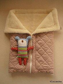 Textil - Deka DANIEL 100% merino Top Super wash ELEGANT 2 v 1 Soft DUSTY pink púdrová ružová - 8715098_