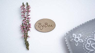 Drobnosti - Koženkový štítok 3x2 cm, ovál (Tmavá koženka) - 8718365_