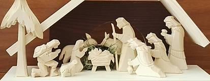 Dekorácie - Betlehem drevený 3-kráľový veľký - 8718429_