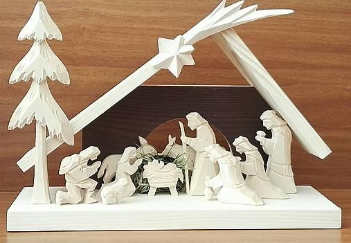 Betlehem drevený 3-kráľový veľký
