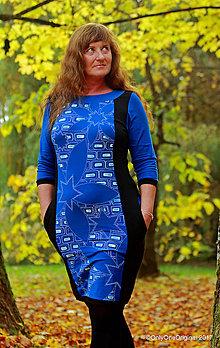 Šaty - Dámske šaty mini, maľované, etno LEKNÁ - 8715231_