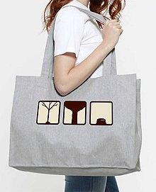 Nákupné tašky - Nákupná taška z recyklovanej bavlny - 8719598_