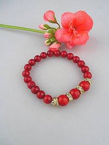 Náramky - Červený koral náramok - 8716200_