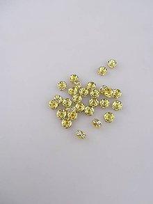 Korálky - korálka zlatá - štras 7mm - 8717472_