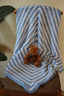 Textil - Háčkovaná deka pro chlapečka - 8716930_