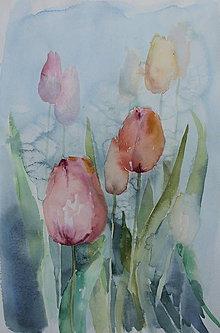 Obrazy - Ružové tulipány - 8718844_