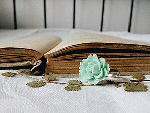 Prstene - Mentolová ružička - 8717232_