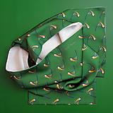 Saténový šál - sýkorka
