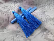 - Hodvábne strapce modré - pár - 8715819_