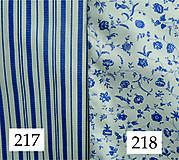 Úžitkový textil - Bavlnené romantické posteľné návliečky (Bielo-modré kombinované) - 8719117_