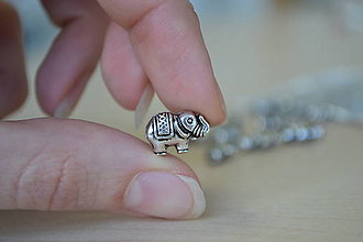Korálky - Korálka tibetská sloník, 0.29€/ks - 8715497_