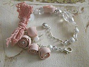 Náramky - Náramok - Rose Dream (Vintage Apricot) - 8716756_