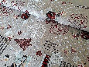 Textil - Vianočné bavlnené plátno - 8716097_