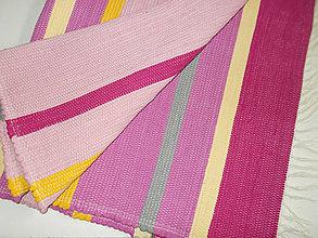 Úžitkový textil - veselý ružový koberec - 8720220_