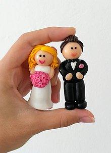 Drobnosti - Svadobné figúrky 3D - 8720802_