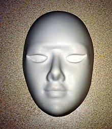 Modelovacie hmoty - tvár - sadrový odliatok - 8723455_