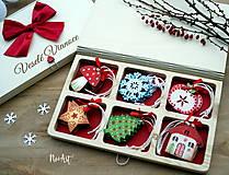 Dekorácie - Drevené vianočné ozdoby - Retro kolekcia - 8723899_