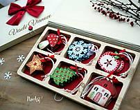 Dekorácie - Drevené vianočné ozdoby - Retro kolekcia - 8723900_