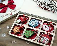 Dekorácie - Drevené vianočné ozdoby - Retro kolekcia - 8723901_
