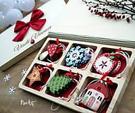 Dekorácie - Drevené vianočné ozdoby - Retro kolekcia - 8723902_