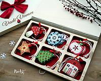 Dekorácie - Drevené vianočné ozdoby - Retro kolekcia - 8723903_