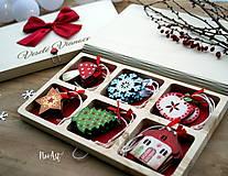 Dekorácie - Drevené vianočné ozdoby - Retro kolekcia - 8723904_