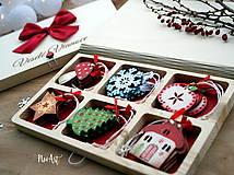 Dekorácie - Drevené vianočné ozdoby - Retro kolekcia - 8723905_