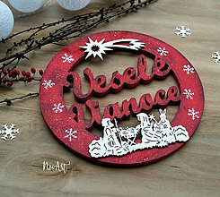 Dekorácie - Vianočný veniec betlehem - 8723714_
