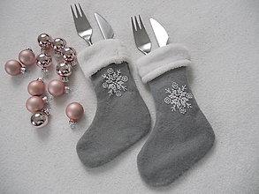 Úžitkový textil - Dobrú chuť (vianočné vrecúška na príbor) - 8723626_