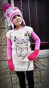 Detské oblečenie - Háčkované šaty-zimné - 8722319_