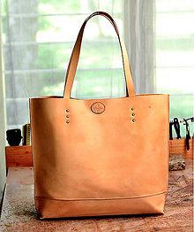 Veľké tašky - Rezervácia tote bag NATURAL BOX- modré prevedenie - 8724187_