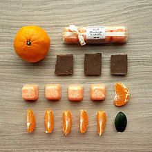 Svietidlá a sviečky - Mandarínka & čokoláda - vonný vosk - silica, aróma - 8724395_
