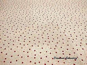 Textil - Bavlnená látka - hviezdičky maličké vínové - cena za 10 cm - 8723135_